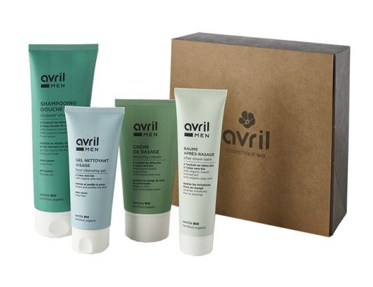 coffret cadeau cosmetiques bio homme 4 produits homme certifies bio