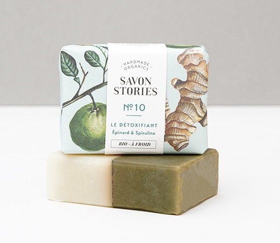 Le savon bio détoxifiant de chez Savons Stories