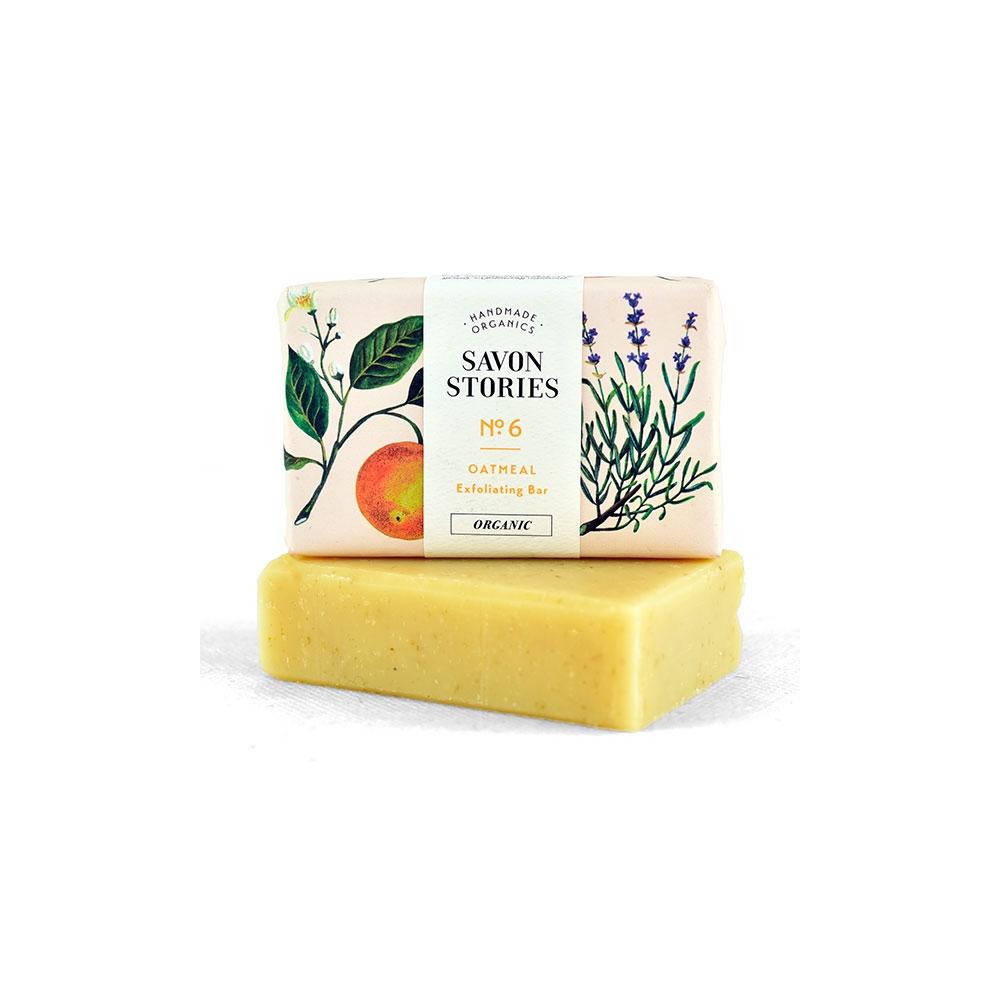 Le savon exfoliant aux flocons d avoines de chez Savon Stories