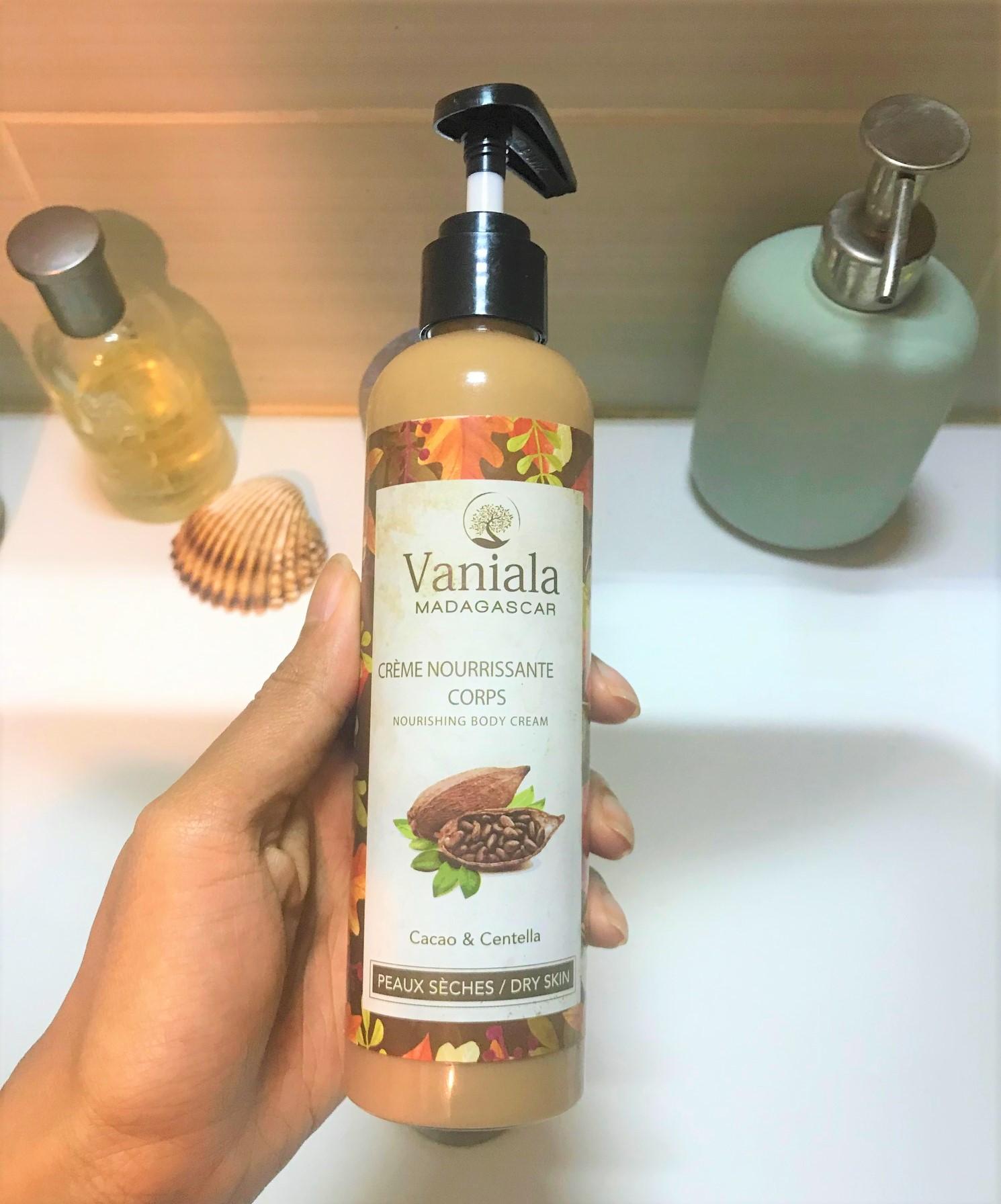 la crème nourrissante vaniala au cacao