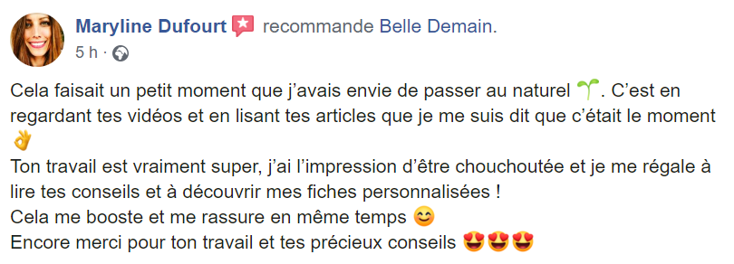 recommandation maryline coaching belle demain